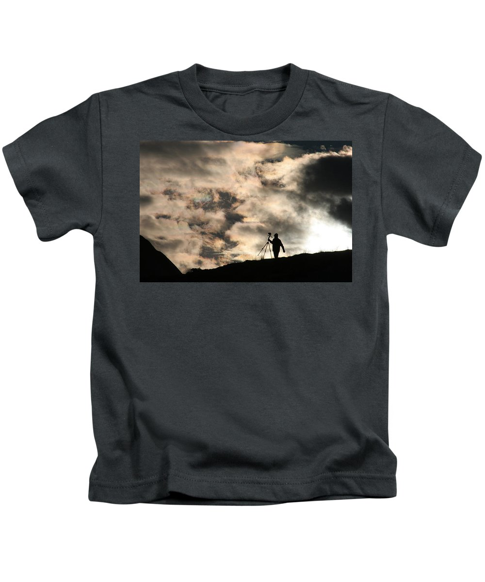 Photographer Kids T-Shirt featuring the photograph Photographer1 by Yesim Tetik