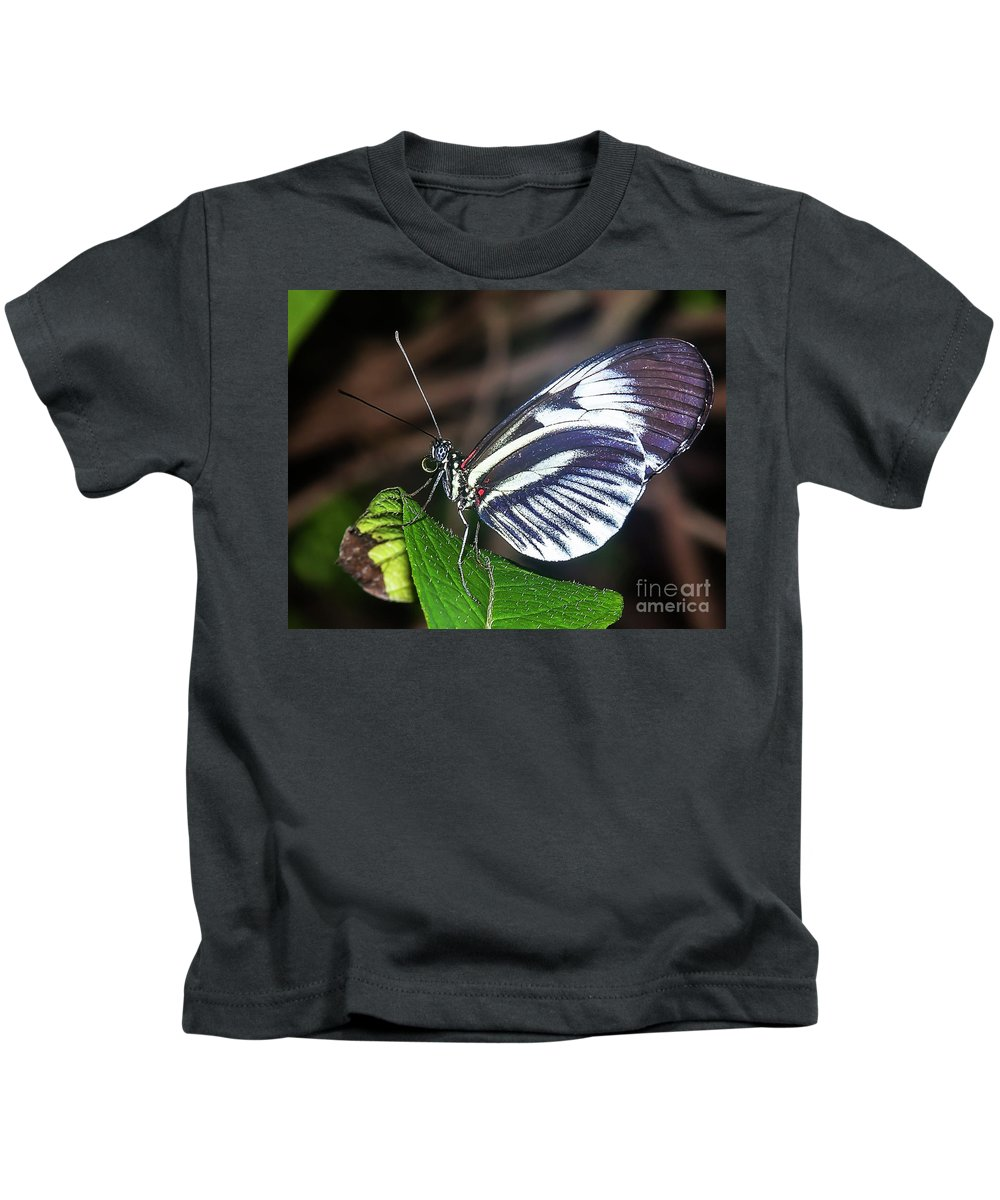 Butterfly Kids T-Shirt featuring the photograph Piano Key Butterfly by Edelberto Cabrera