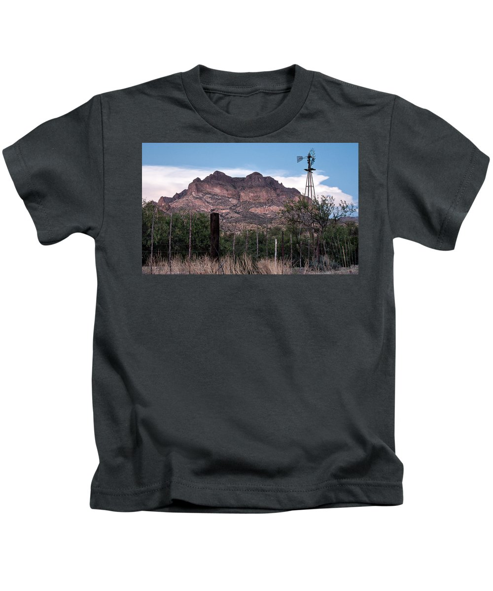 Picket Post Mountain Kids T-Shirt featuring the photograph Picket Post Mountain by Tam Ryan