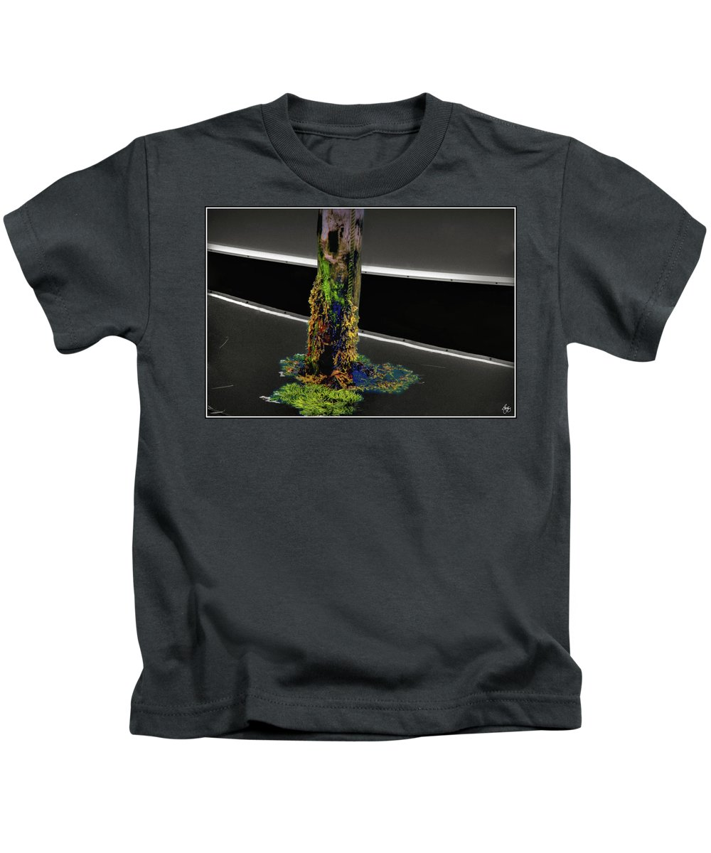 Pier Kids T-Shirt featuring the photograph Pier Colors by Wayne King