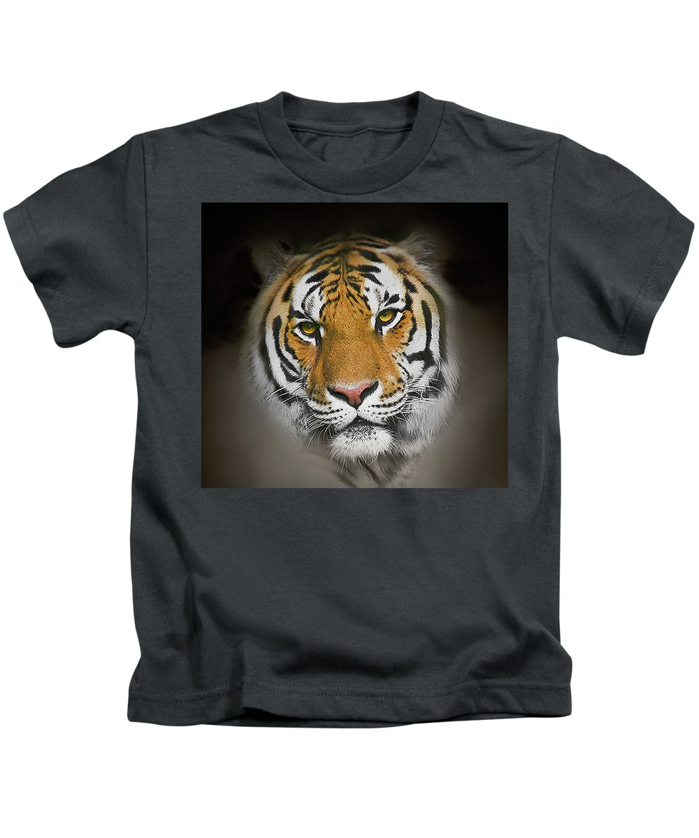 Tiger Kids T-Shirt featuring the photograph Piercing by John Christopher