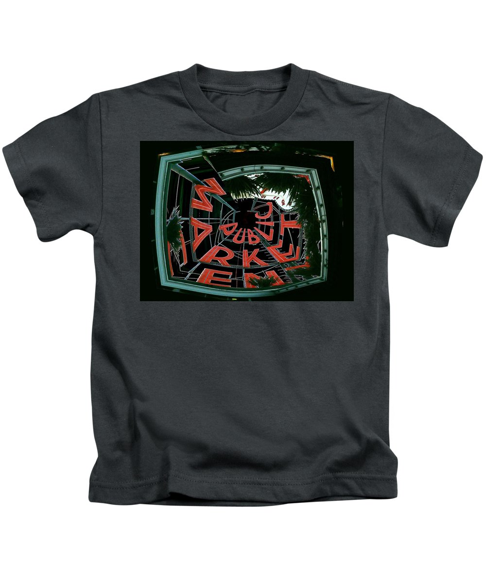 Seattle Kids T-Shirt featuring the digital art Pike Place Market Entrance 2 by Tim Allen