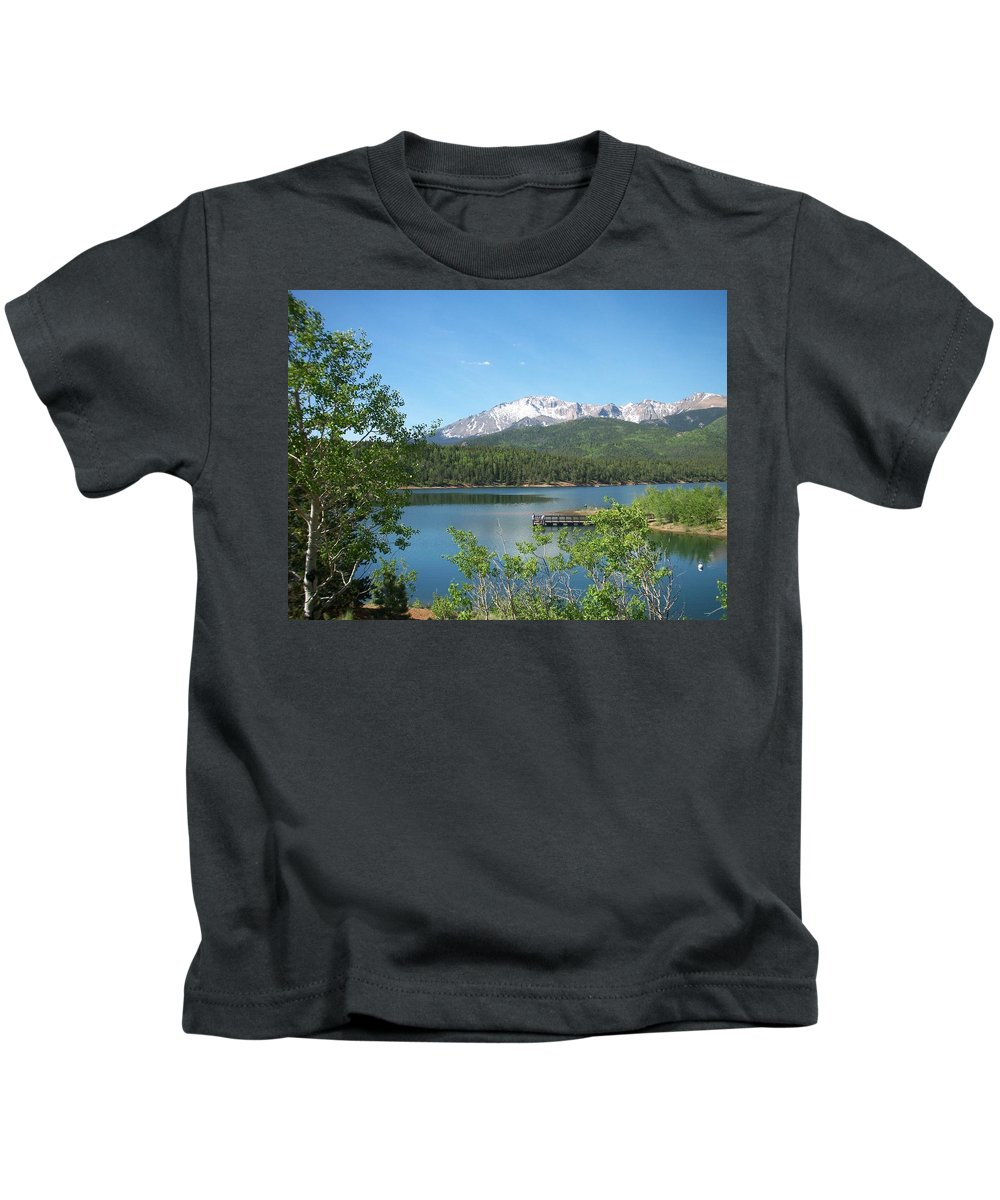 Colorado Kids T-Shirt featuring the photograph Pike's Peak by Anita Burgermeister