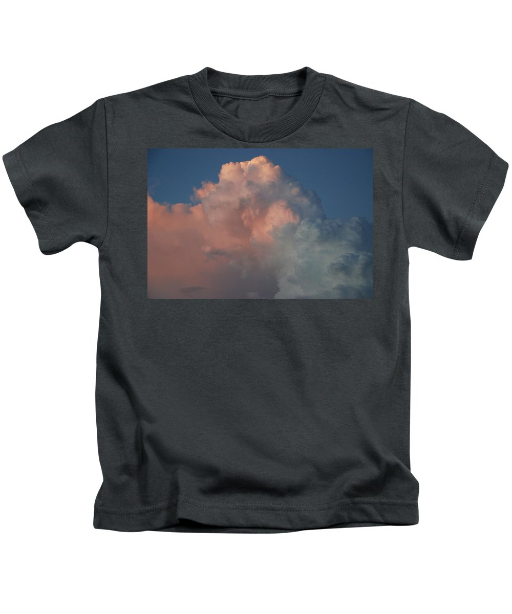 Clouds Kids T-Shirt featuring the photograph Pink And Grey by Rob Hans
