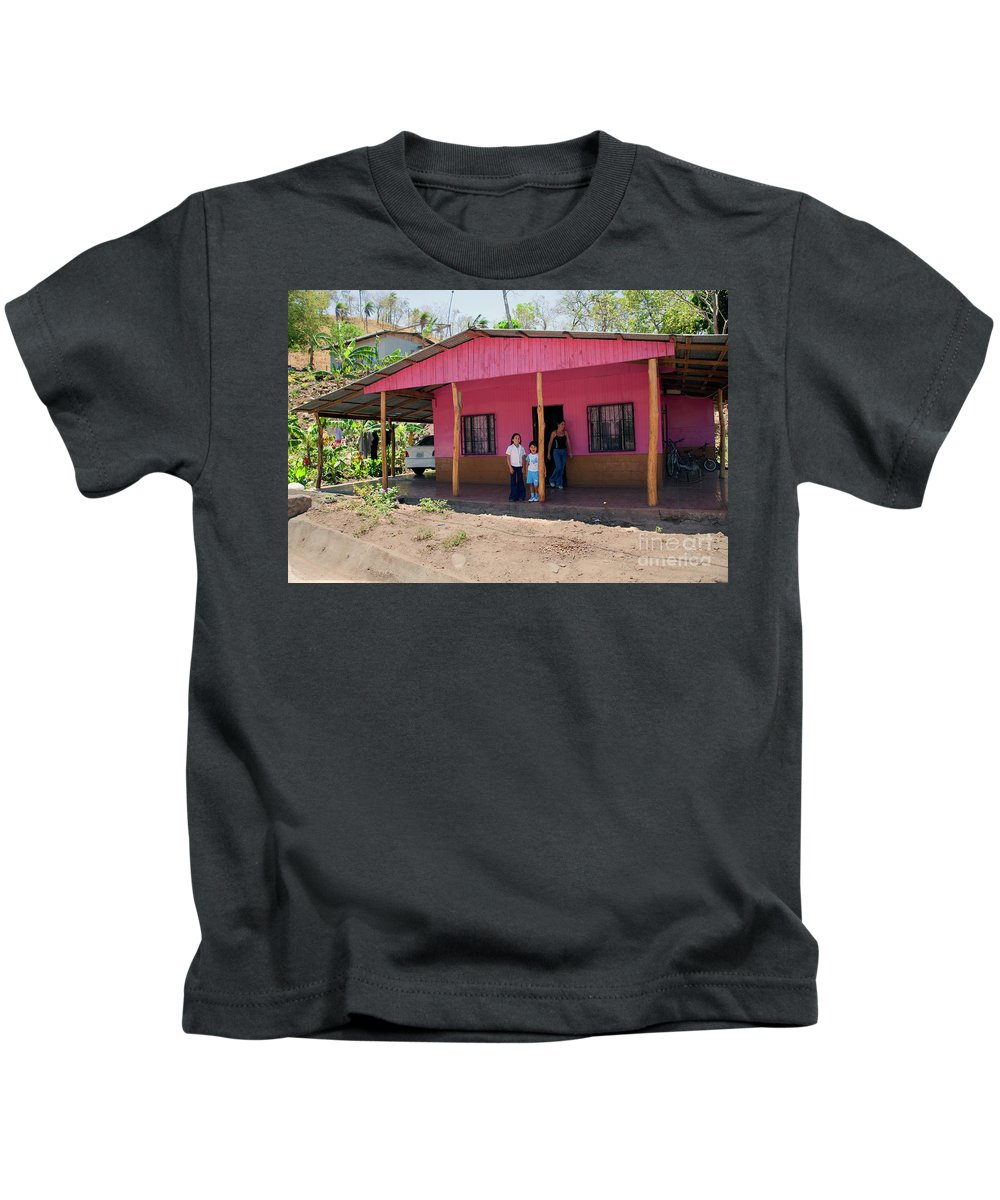 Children Kids T-Shirt featuring the photograph Pink House In Costa Rica by Madeline Ellis