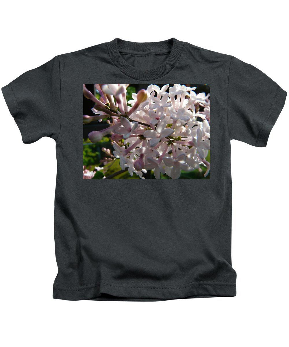 Flower Kids T-Shirt featuring the photograph Pink Lilac Blossom by Valerie Ornstein