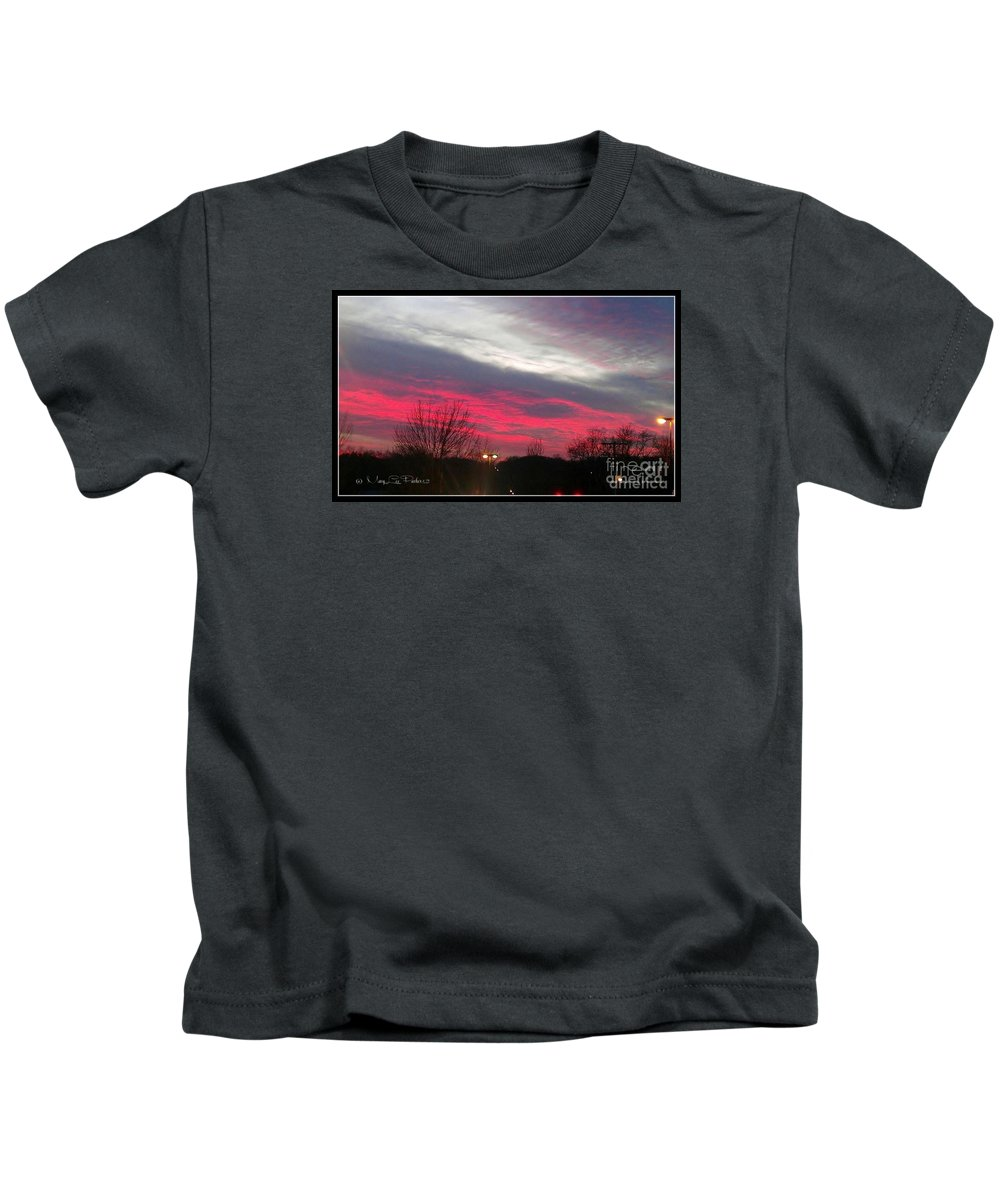 Pink Kids T-Shirt featuring the photograph Pink Night by MaryLee Parker