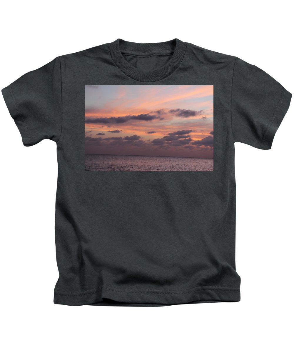 Landscape Kids T-Shirt featuring the photograph Pink Sky by Lola Ginger