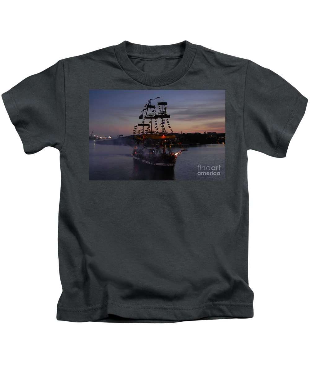 Pirates Kids T-Shirt featuring the photograph Pirate Invasion by David Lee Thompson