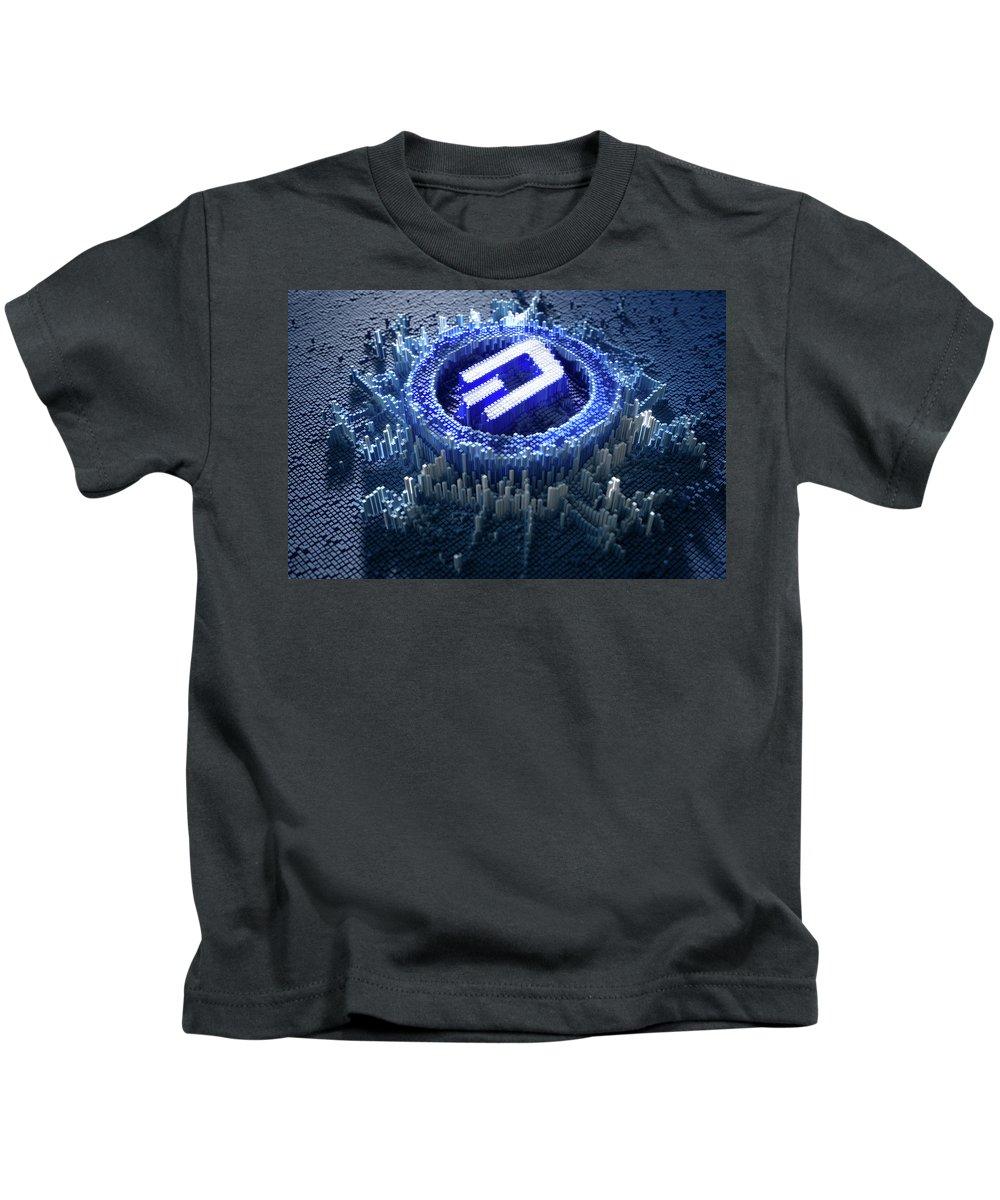 Dash Kids T-Shirt featuring the digital art Pixel Dash Concept by Allan Swart