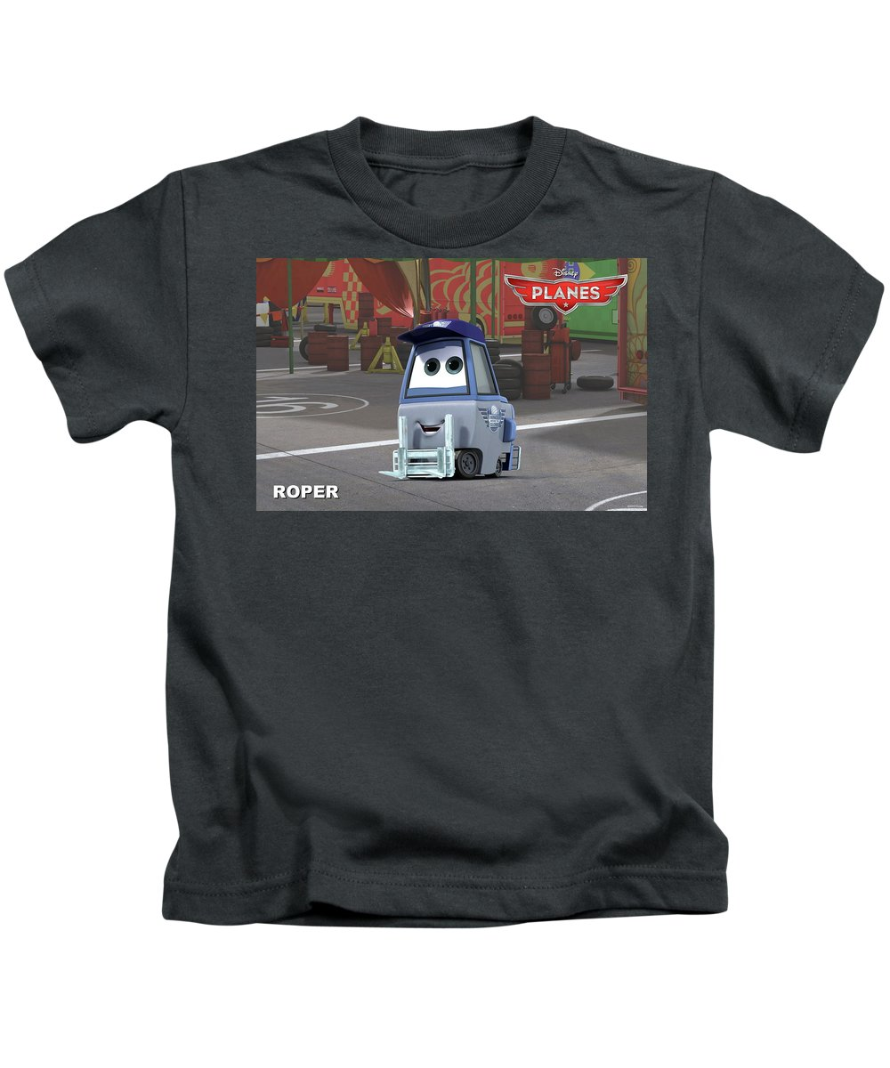 Planes Kids T-Shirt featuring the digital art Planes by Dorothy Binder
