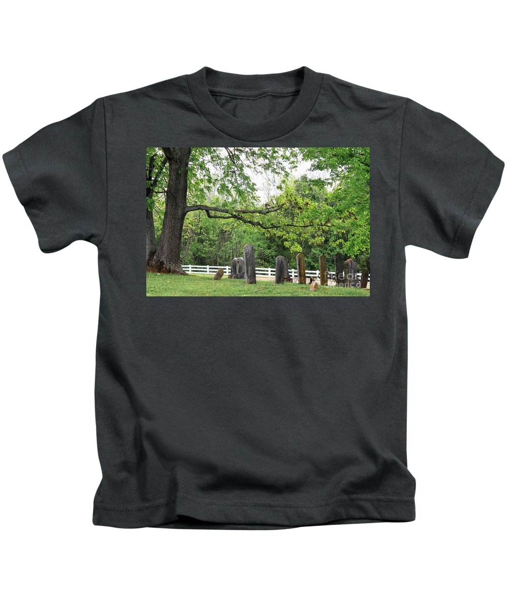 Landscape Kids T-Shirt featuring the photograph Pleasant Forest Cemetery by Todd Blanchard