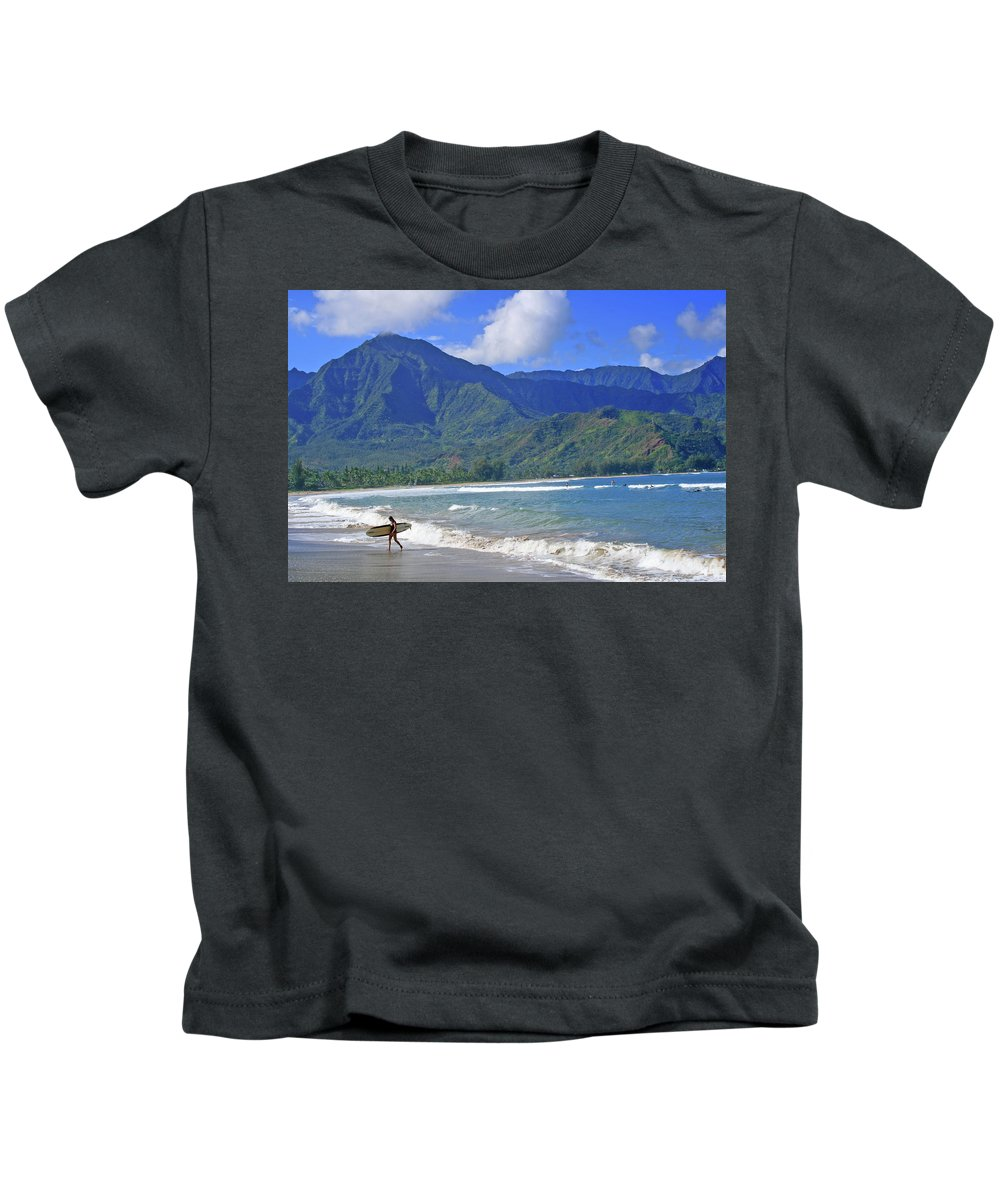 Surfer Kids T-Shirt featuring the photograph Point Break by Scott Mahon