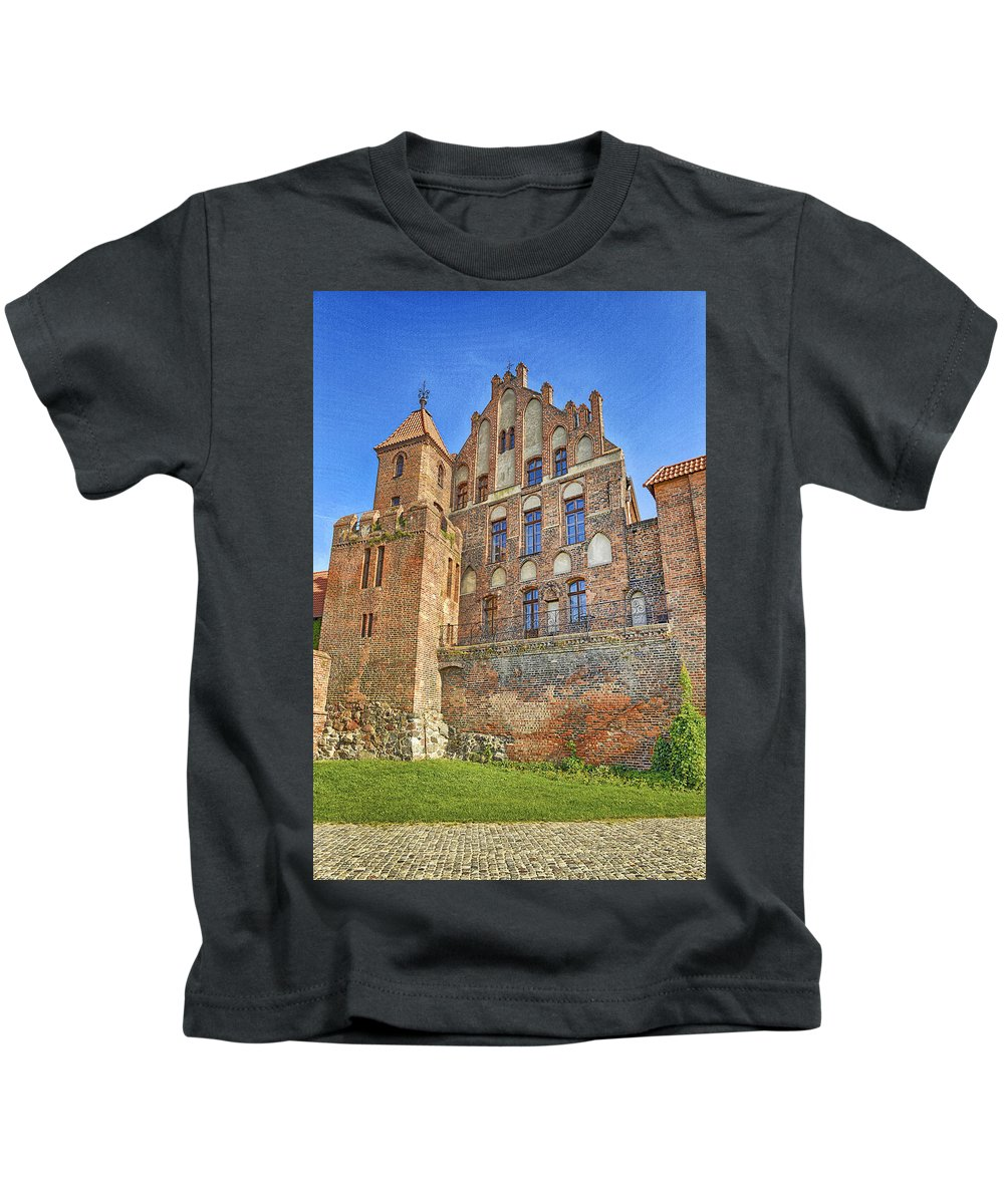 Poland Kids T-Shirt featuring the photograph Poland, Torun, Building. by Adriano Bussi