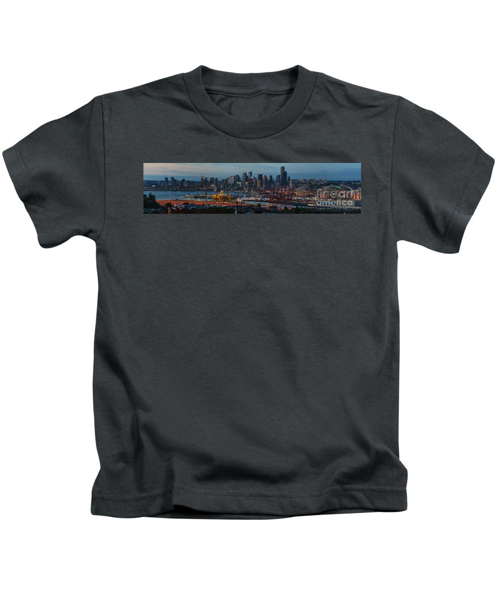 Shell Kids T-Shirt featuring the photograph Polar Pioneer Docked In Seattle by Mike Reid