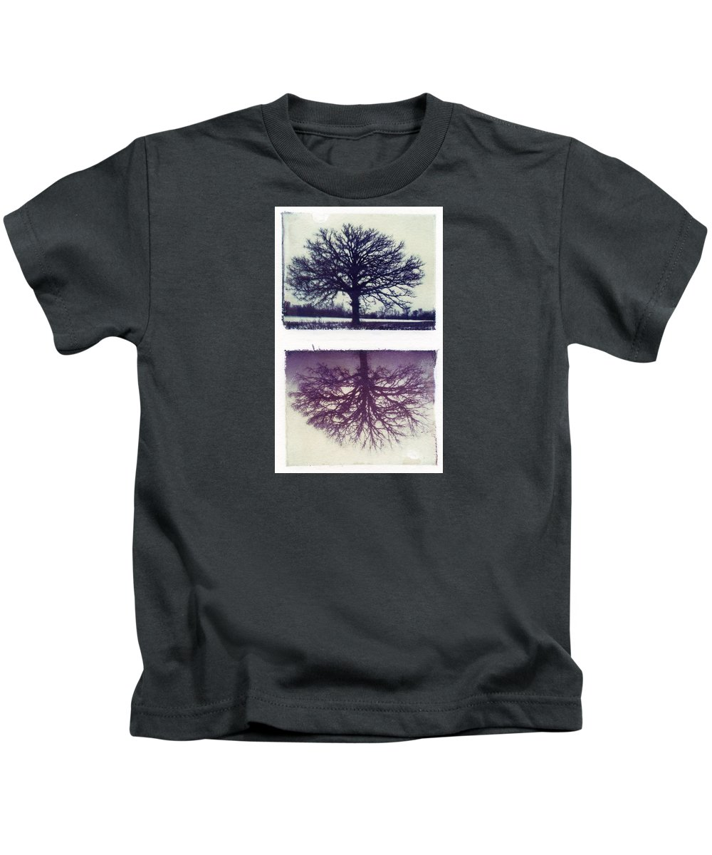 Polaroid Kids T-Shirt featuring the photograph Polaroid Transfer Tree by Jane Linders