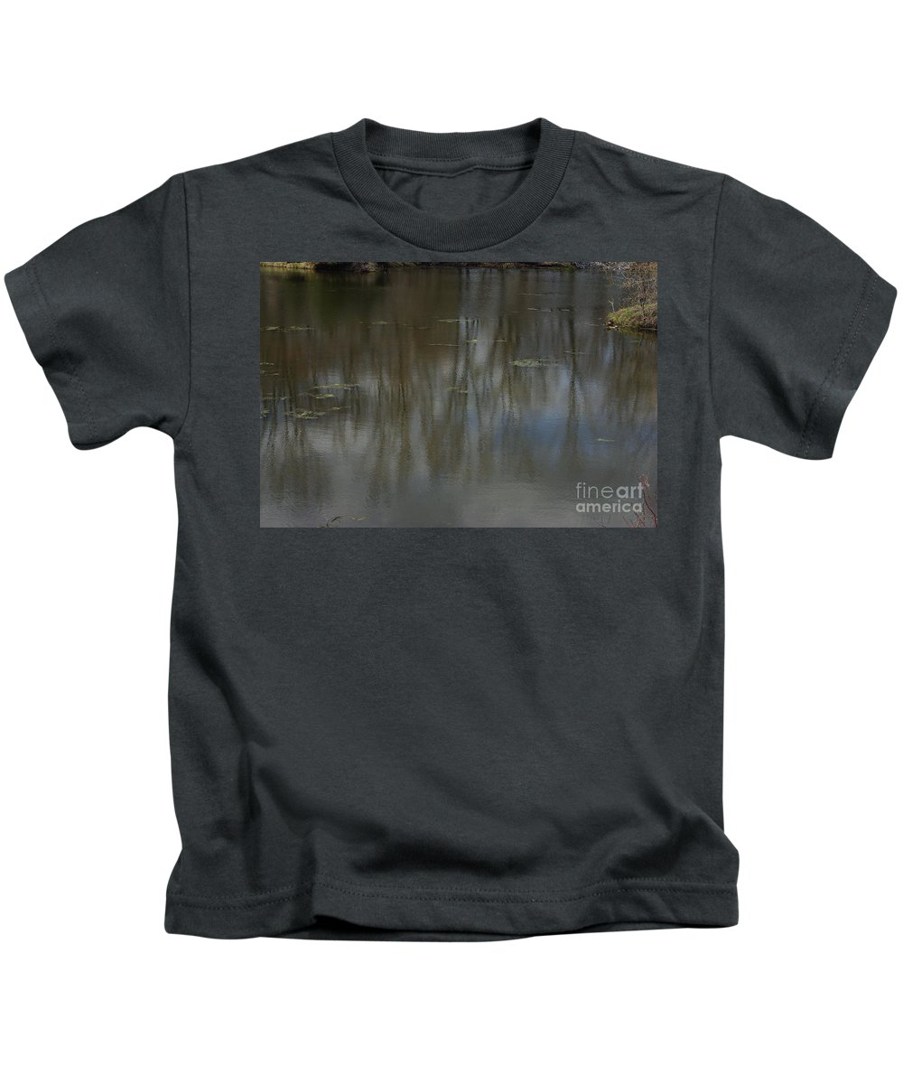 Pond Kids T-Shirt featuring the photograph Pond Reflection In The Spring by Alice Markham