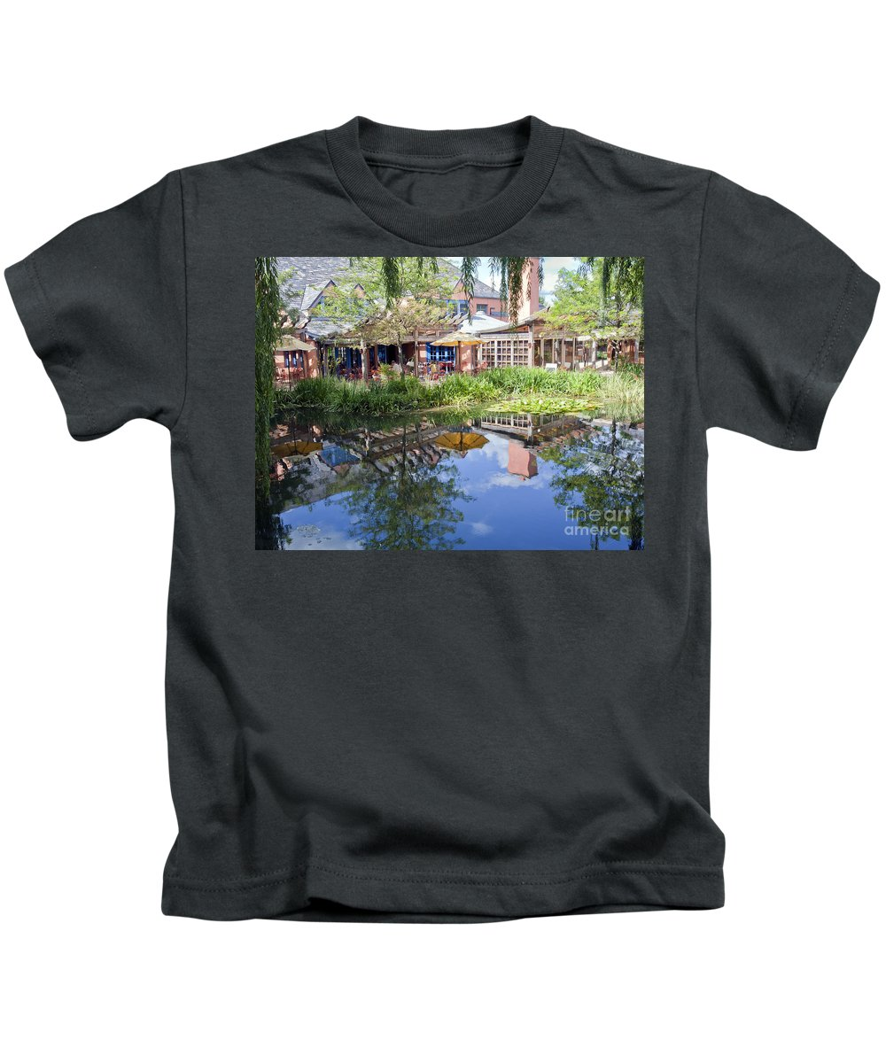 Reflections Kids T-Shirt featuring the photograph Pond Reflections by Madeline Ellis