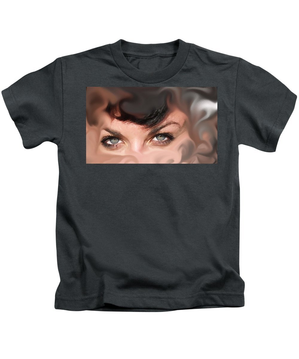 Eyes Kids T-Shirt featuring the photograph Pop Art Eyes by Heather Coen