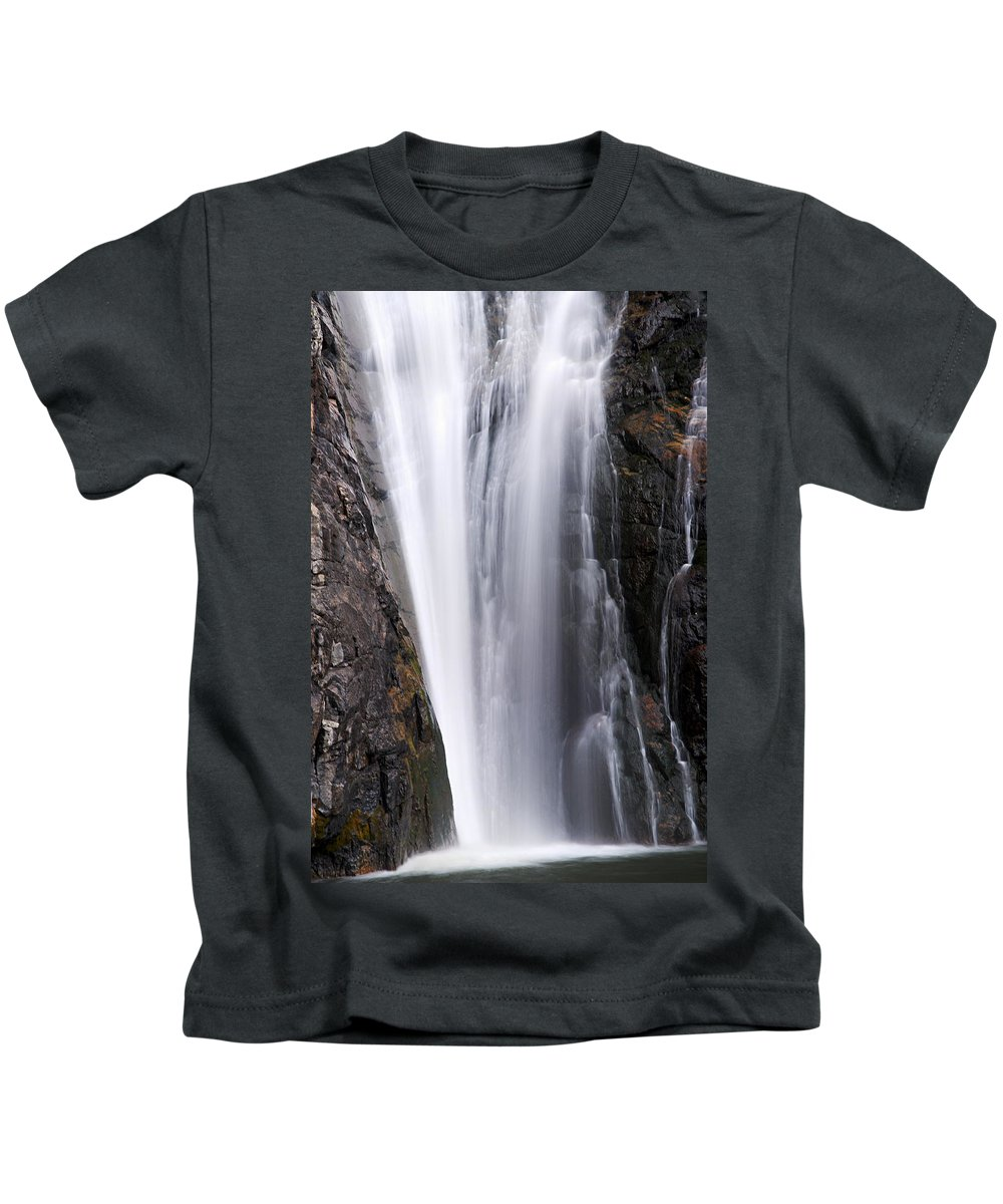 Porcupine Falls Kids T-Shirt featuring the photograph Porcupine Falls Closeup by Larry Ricker