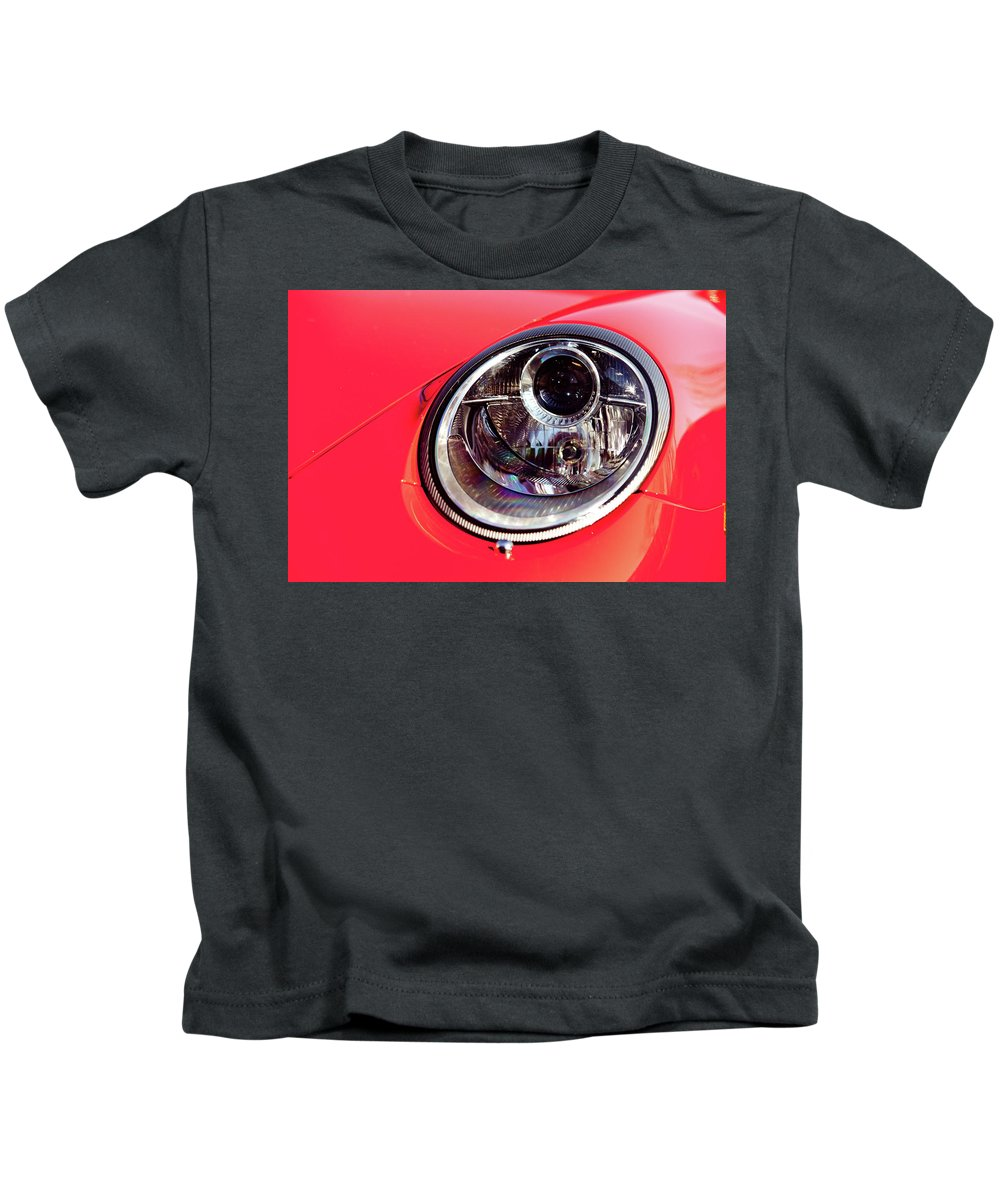 Porsche 911 Carrera Kids T-Shirt featuring the photograph Porsche Headlight by Rich Sirko