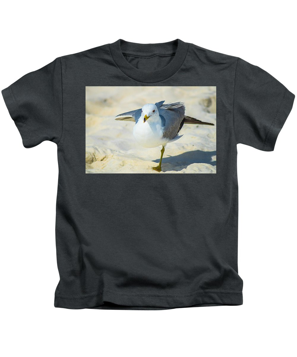 Bird Kids T-Shirt featuring the photograph Pose For The Camera by Brandon Stansbury