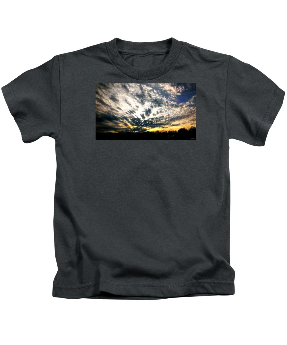 Sunset Kids T-Shirt featuring the photograph Pre-sunset by Amber Taylor