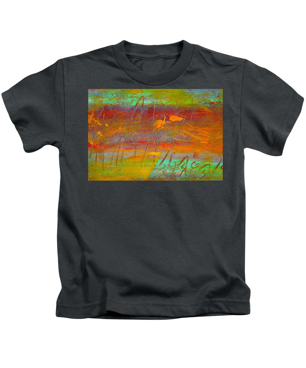 Abstract Kids T-Shirt featuring the painting Prelude To A Sigh by Wayne Potrafka