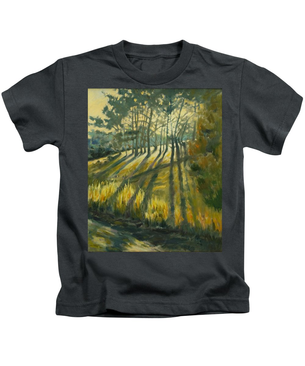 Trees Kids T-Shirt featuring the painting Presidio by Rick Nederlof