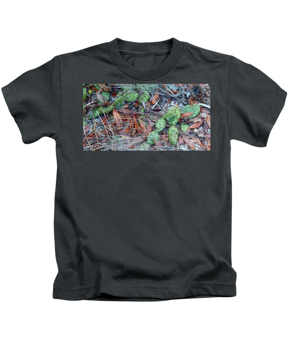 Cactus Kids T-Shirt featuring the photograph Prickly Pear Cactus by Terry Cobb