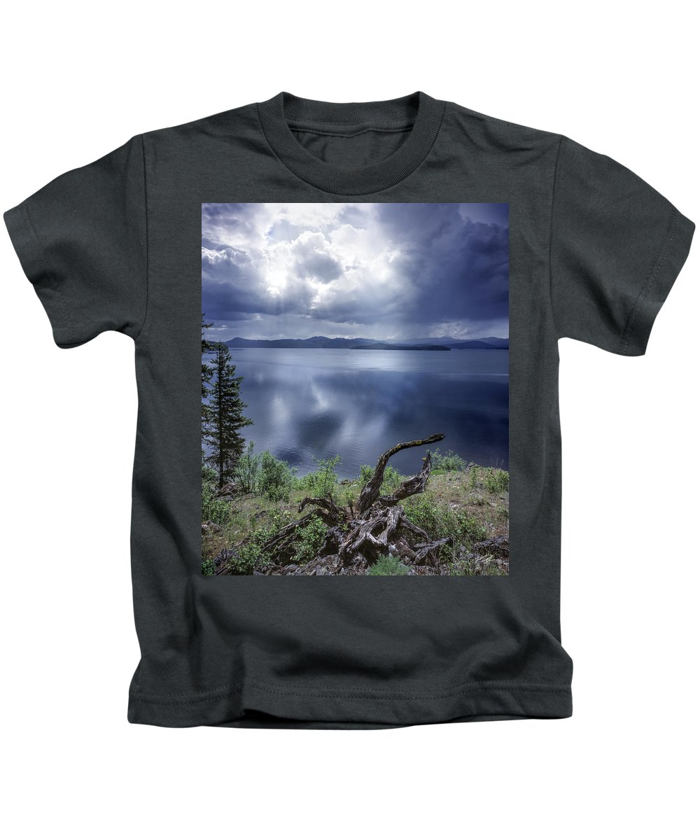 Beautiful Kids T-Shirt featuring the photograph Priest Lake Light by Leland D Howard