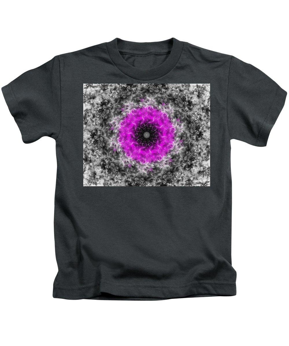 Fine Art Kids T-Shirt featuring the digital art Probability Flower by David Lane