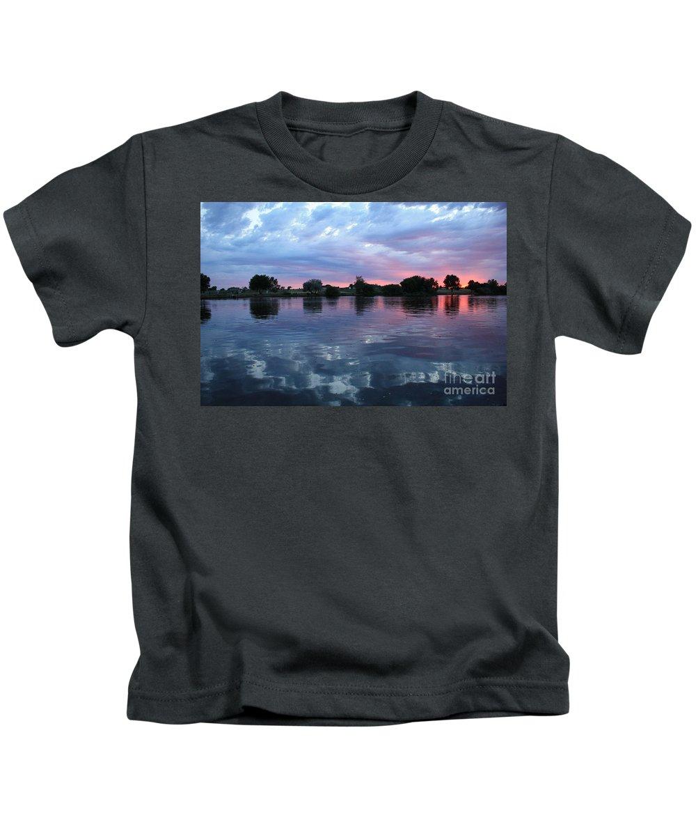 Sunset Kids T-Shirt featuring the photograph Prosser Pink Sunset 5 by Carol Groenen
