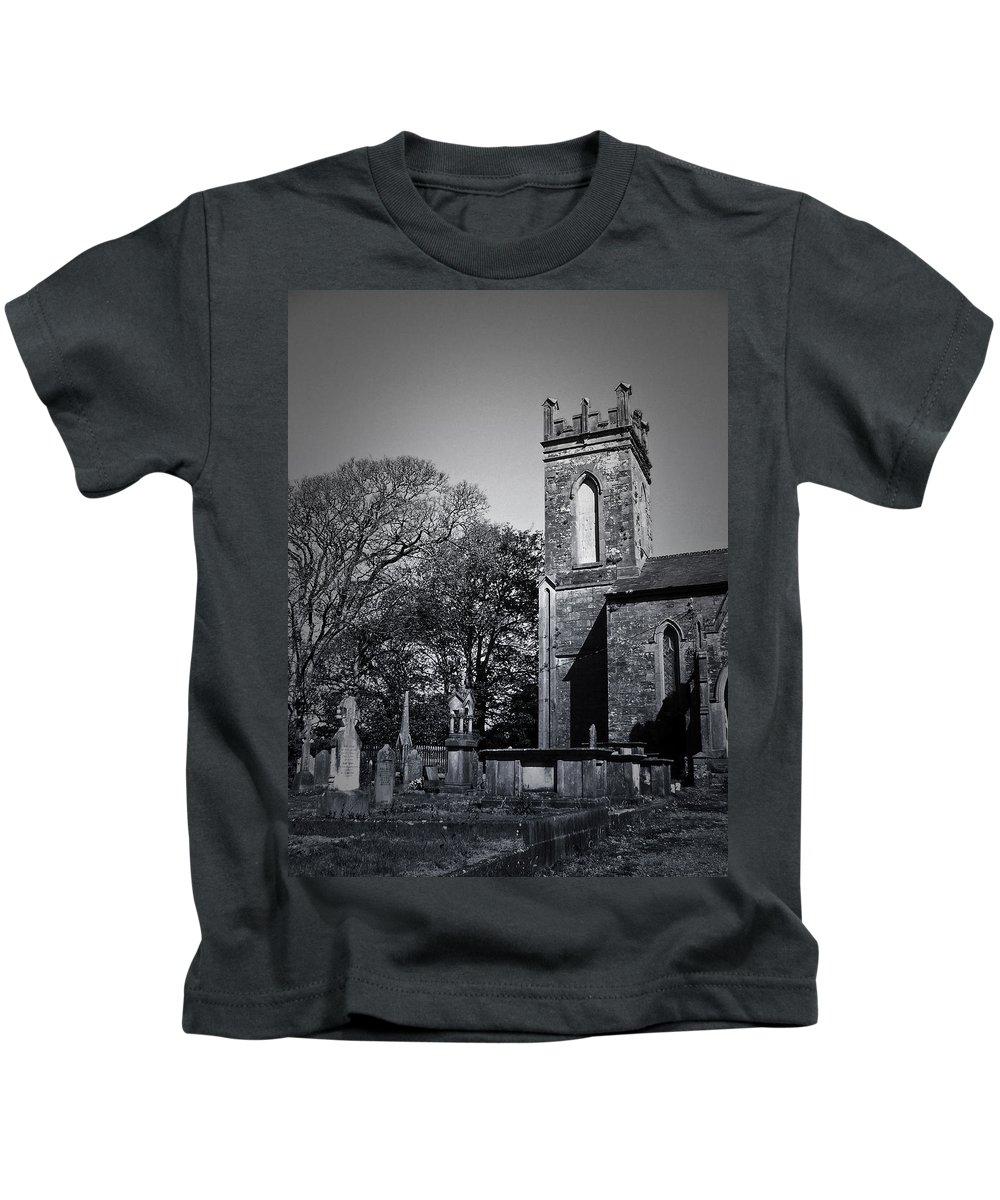Irish Kids T-Shirt featuring the photograph Protestant Church Macroom Ireland by Teresa Mucha