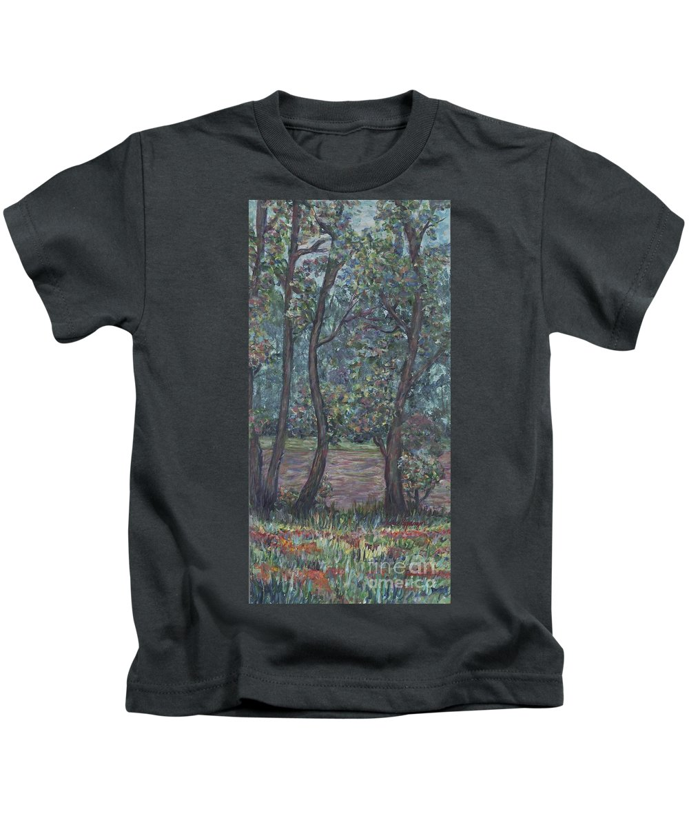 Landscape Kids T-Shirt featuring the painting Provence Flowers by Nadine Rippelmeyer
