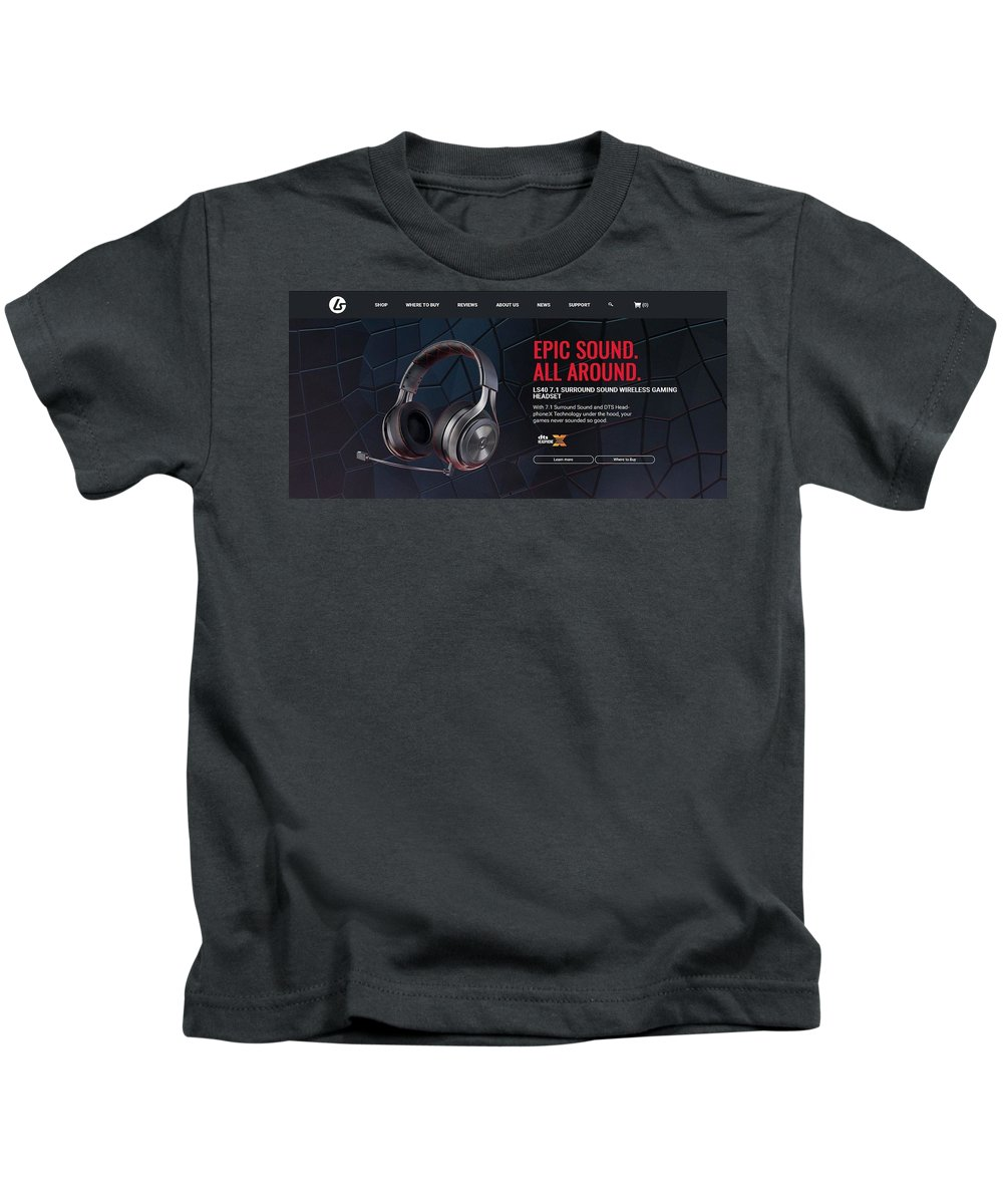 Ps4 Headset Houston Kids T-Shirt featuring the mixed media ps4 headset Houston by Jacob Stuartglobal