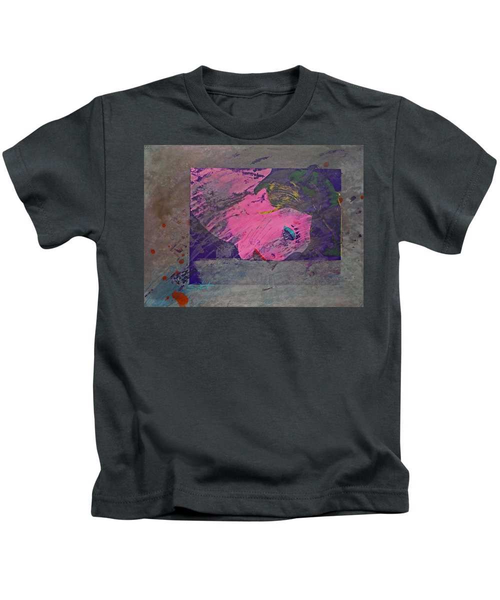 Psycho Kids T-Shirt featuring the mixed media Psycho Warhol by Charles Stuart