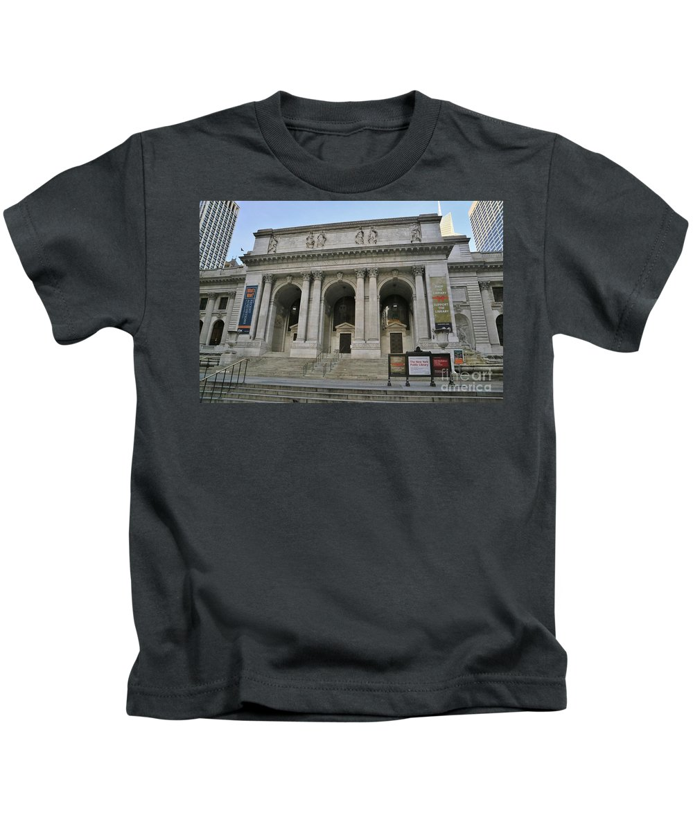Destination Kids T-Shirt featuring the photograph Public Library New York City by Douglas Sacha