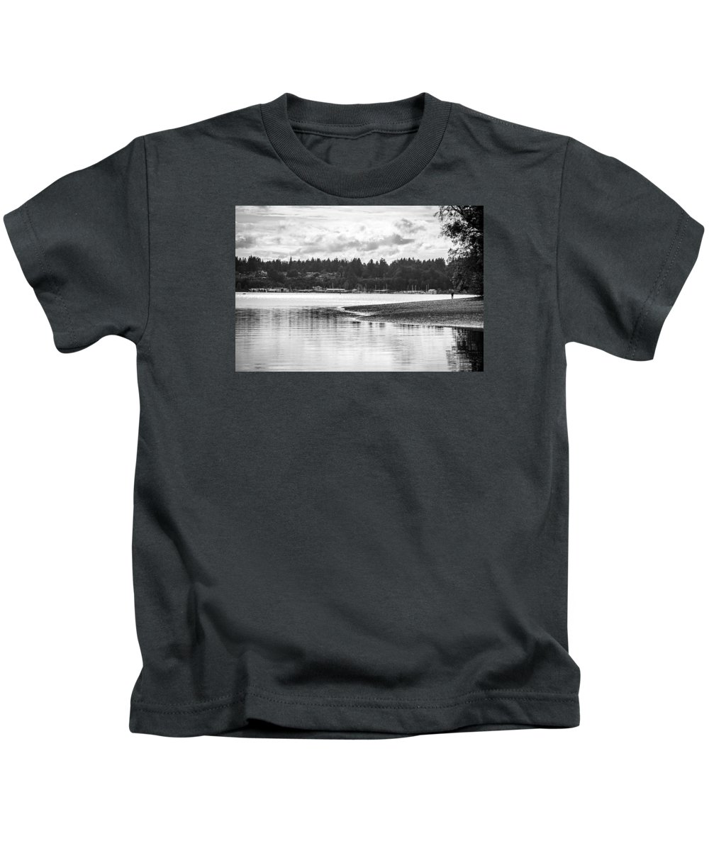 Puget Sound Kids T-Shirt featuring the photograph Puget Sound Reflections by Brandon Johnson