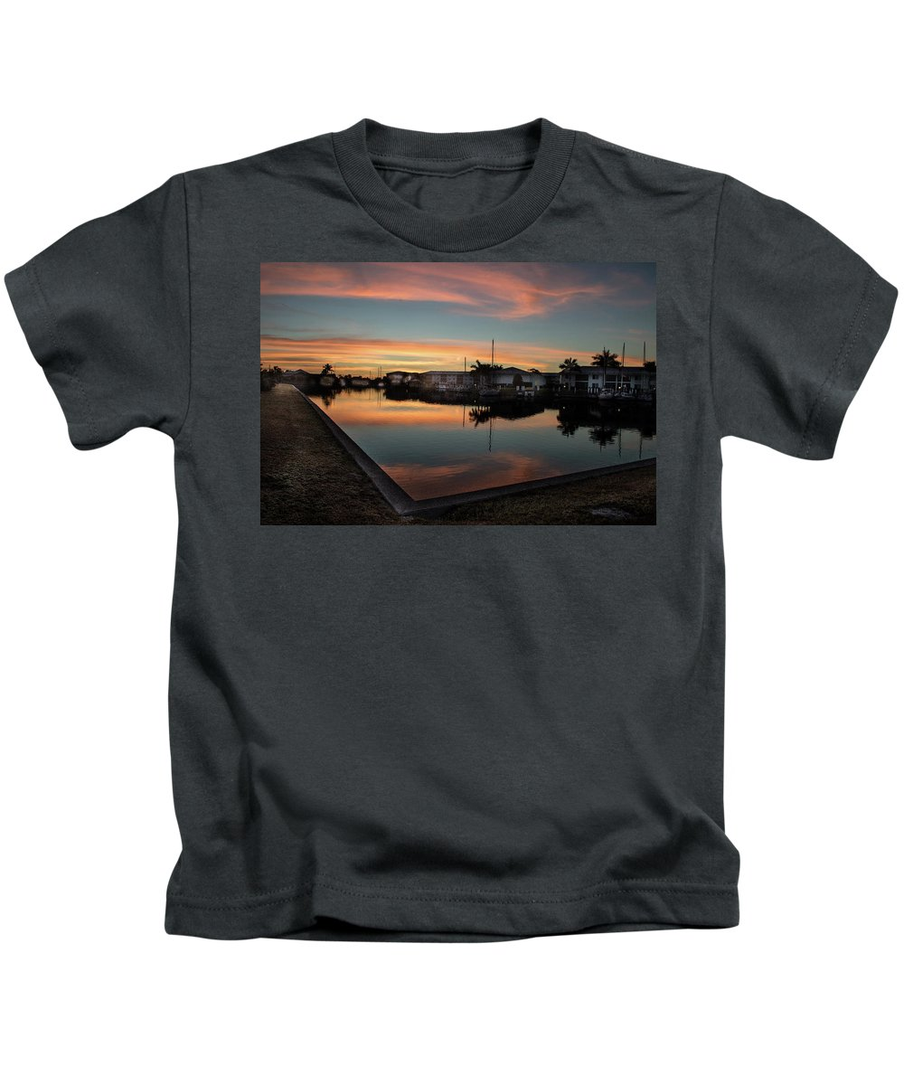 Florida Kids T-Shirt featuring the photograph Punta Gorda From Bal Harbor by Don Kerr
