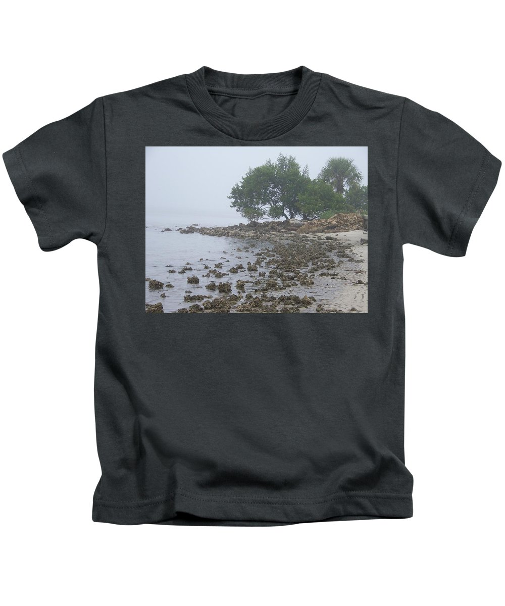 Mist Kids T-Shirt featuring the photograph Punta Gorda by Laurie Paci