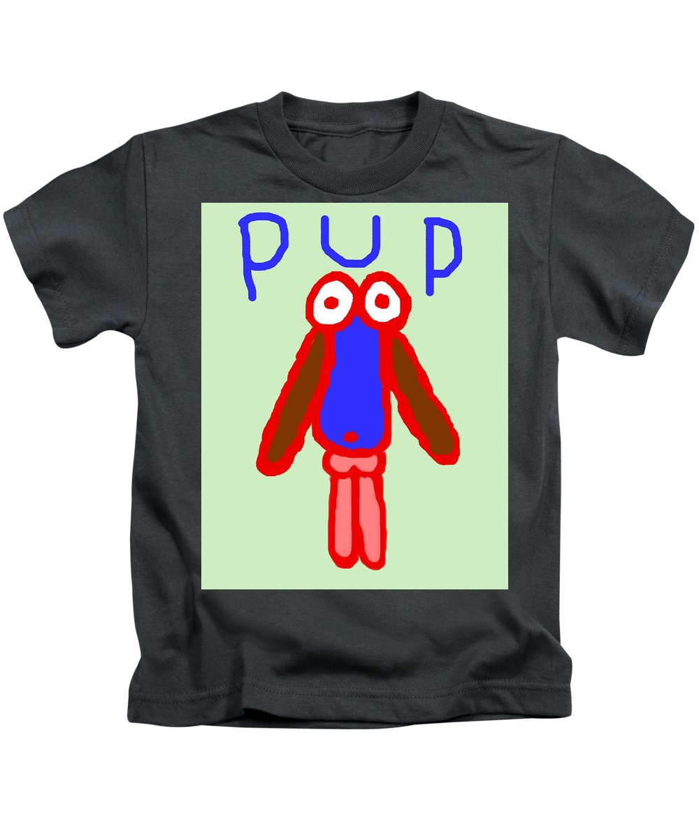 Puppy Kids T-Shirt featuring the painting Pup by Pharris Art