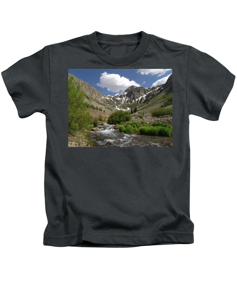 Trees Kids T-Shirt featuring the photograph Pure Mountain Beauty by Carol Milisen
