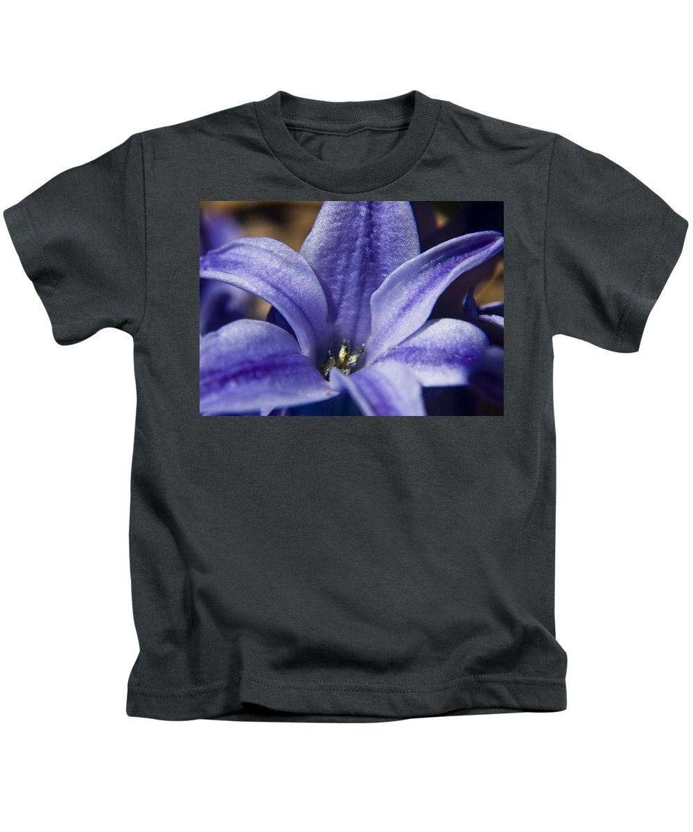 Hyacinth Kids T-Shirt featuring the photograph Purple Hyacinth by Teresa Mucha