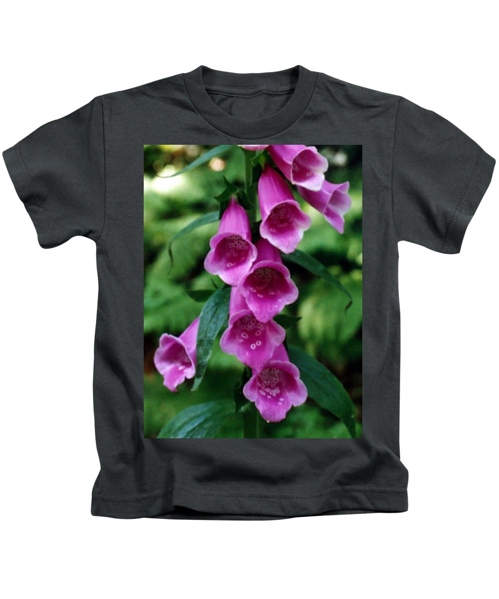 Pat Turner Kids T-Shirt featuring the photograph Purple Mouth Flowers by Pat Turner