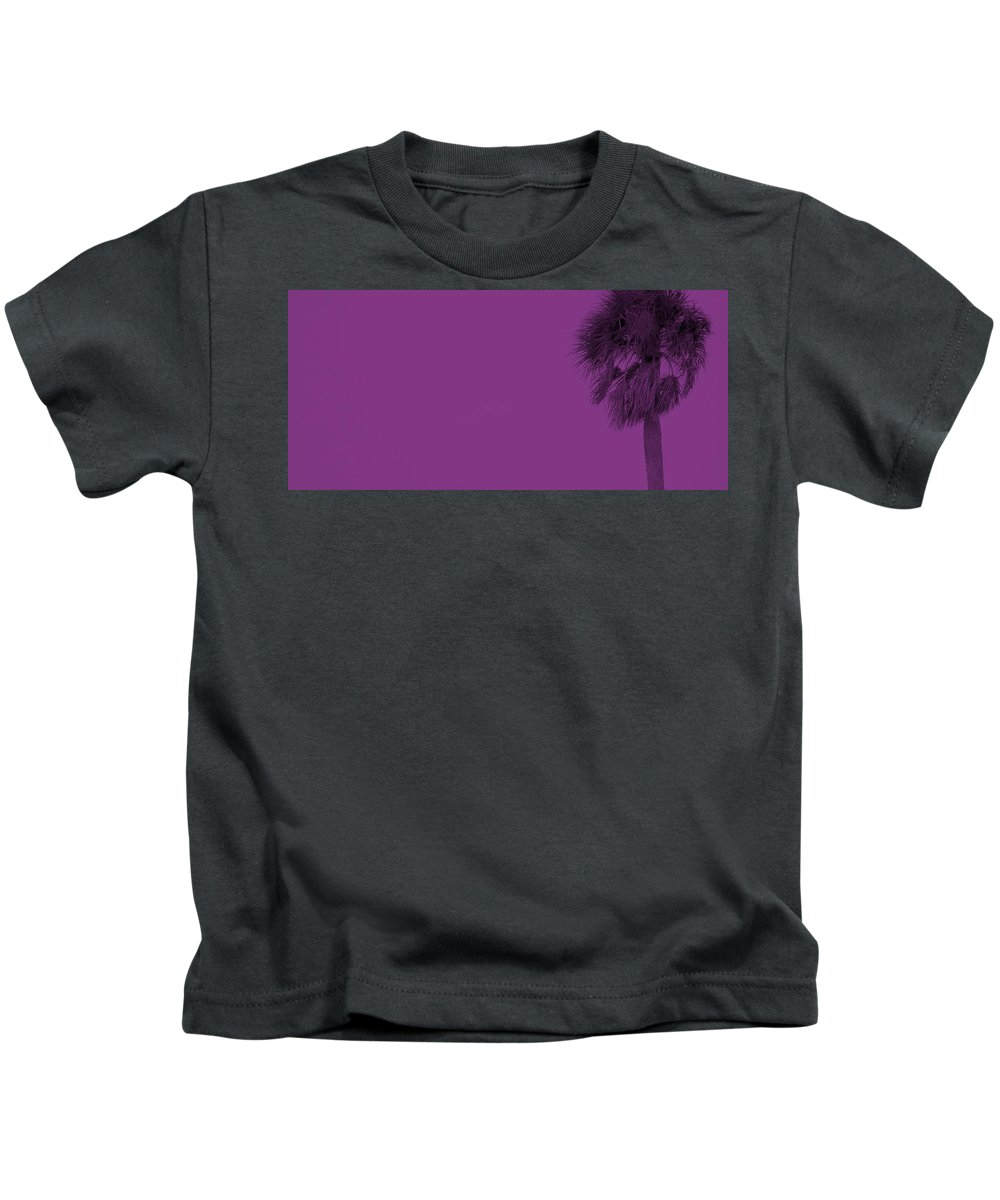 Florida Kids T-Shirt featuring the photograph Purple Palm by Ed Smith