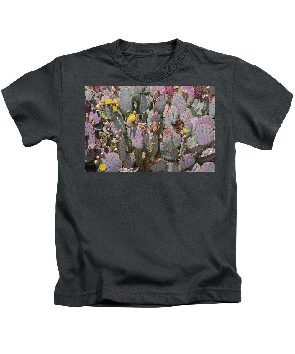 Cactus Kids T-Shirt featuring the photograph Purple Prickly Pear 1 by Aimee L Maher ALM GALLERY