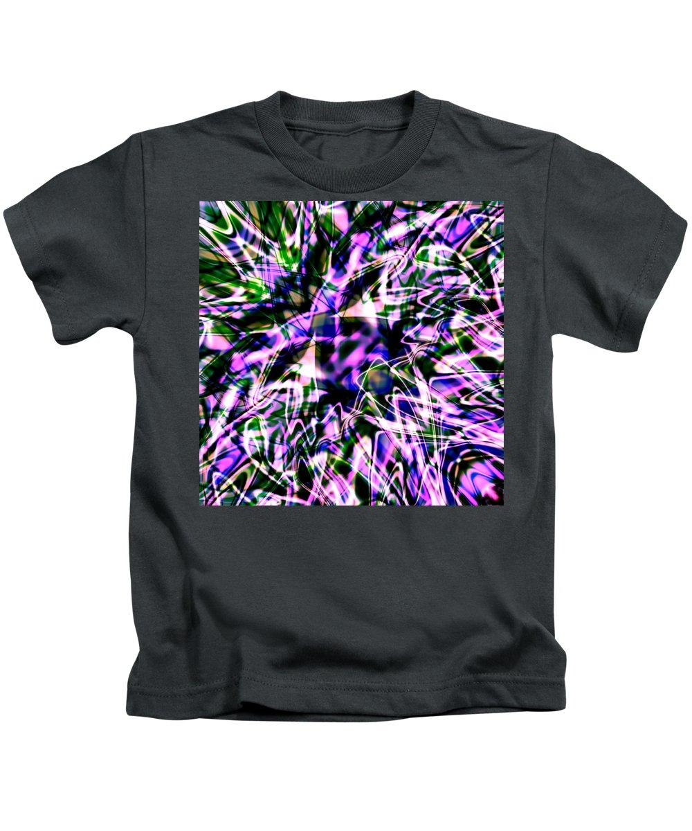 Octopus Kids T-Shirt featuring the digital art Purple Sea Monster by Blind Ape Art