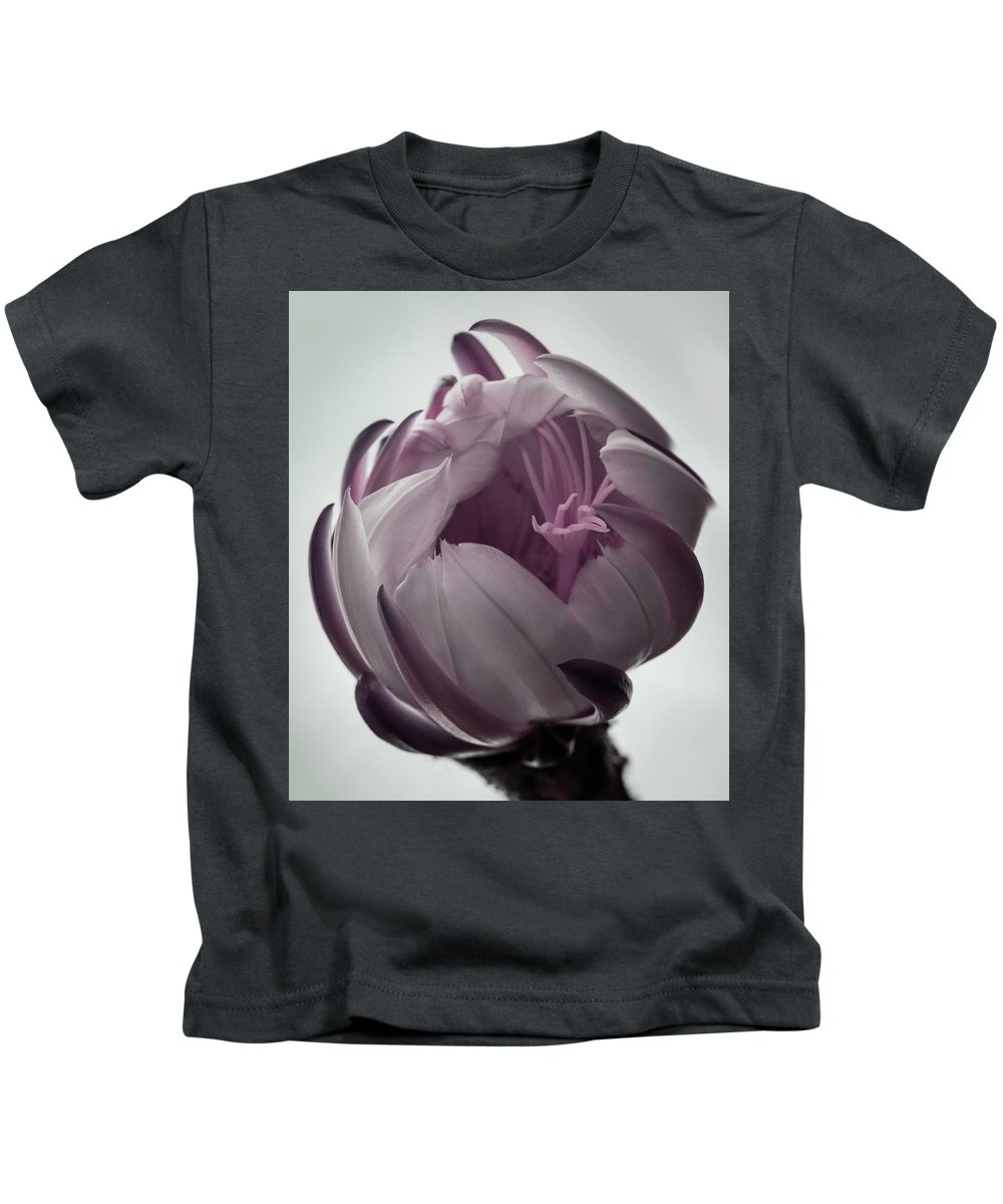 Cereus Kids T-Shirt featuring the photograph Queen Of The Night In Bloom by Kalikoweo Keolanui