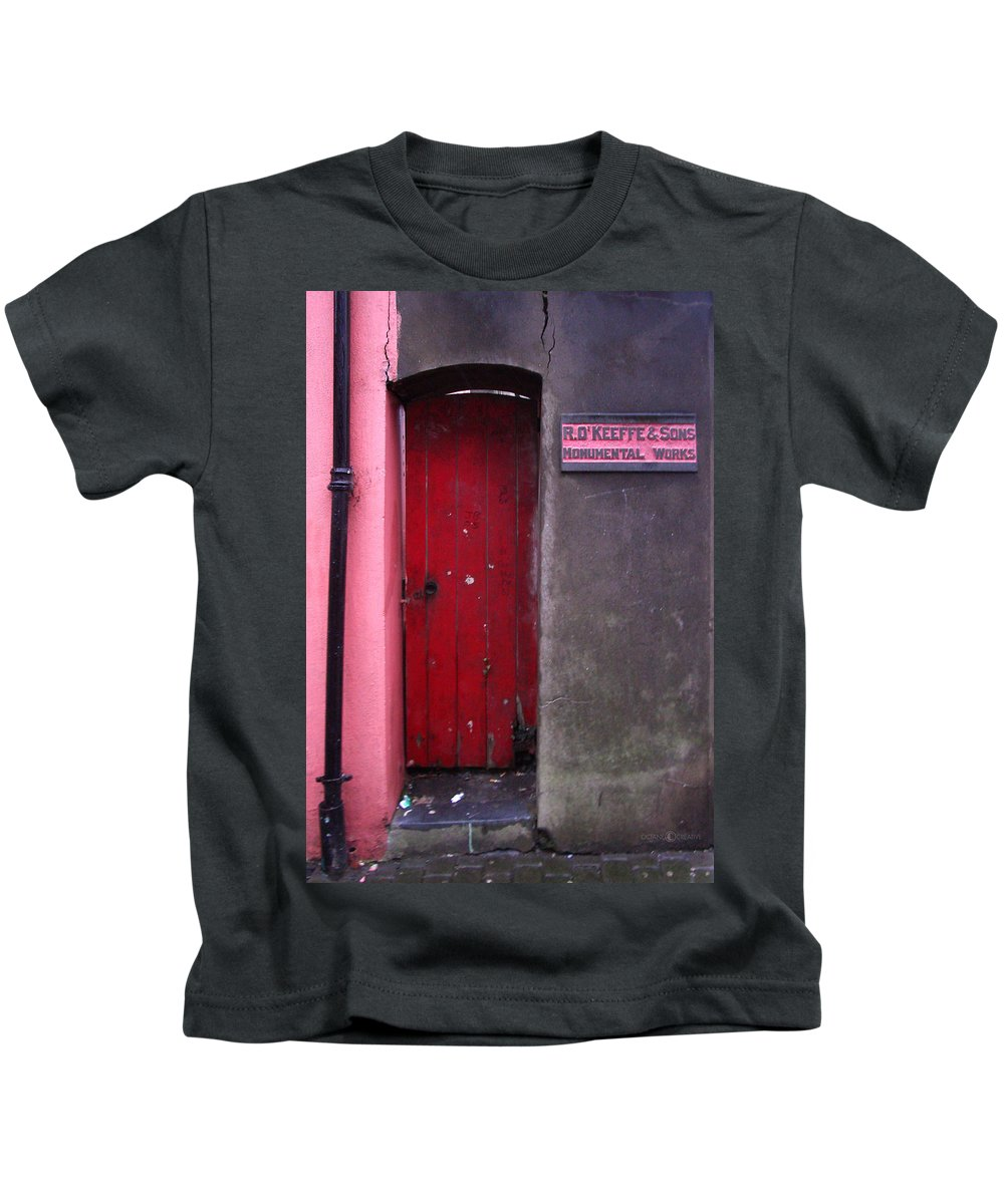 Red Kids T-Shirt featuring the photograph R. O. Keeffee And Sons by Tim Nyberg